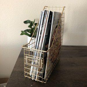 Gold Wire Magazine File Box